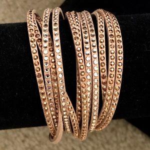 NWOT - Nude Swarovski crystal wrap bracelet